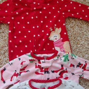 carters Pajamas - Lot of 3-6 months Holiday Themed PJ's